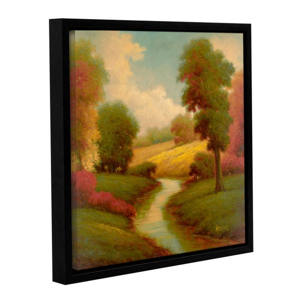 Pierre's 'Ancienne Riviere I' Gallery Wrapped Floater-framed Canvas