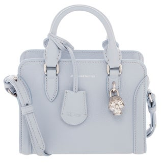 Alexander McQueen Small Mini Padlock Grainy Leather Top Handle Bag