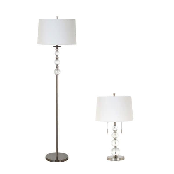 Cream Hardback Shade Lamp Set