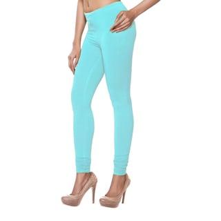 In-Sattva Women's Blue Solid Color Leggings (India)