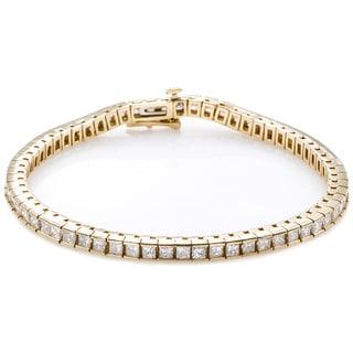14K Yellow Gold 7ct TDW Diamonds Tennis Bracelet (G-H, VS1-VS2)