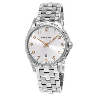 Hamilton Men's H38511113 'Jazzmaster' Silver Dial Stainless Steel Swiss Quartz Watch