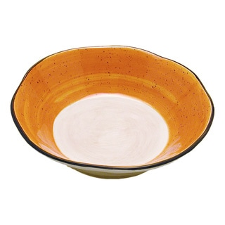 Gold Tortoise Shell Ceramic Pasta Bowl (Italy)