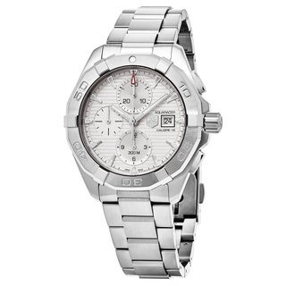 Tag Heuer Men's CAY2111.BA0927 '300 Aquaracer' Silver Dial Stainless Steel Chronograph Swiss Automatic Watch