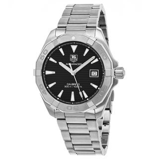 Tag Heuer Men's WAY2110.BA0928 '300 Aquaracer' Black Dial Stainless Steel Swiss Automatic Watch