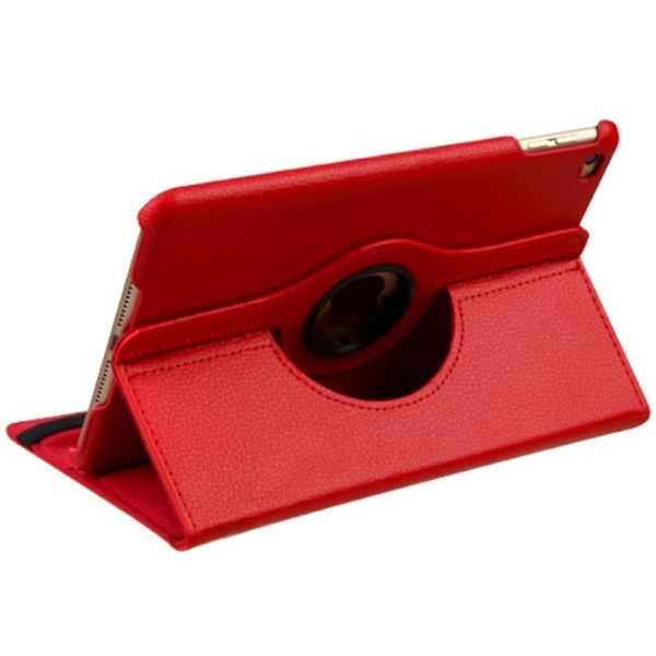 Insten Red Swivel Leather Case Cover with Stand For Apple iPad Mini 4
