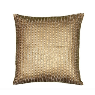 Rizzy Home Metallic Disc Pattern Gold Cotton 18-inch Decorative Throw Pillow