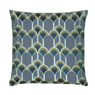 Rizzy Home Grey Polyester 12-inch Square Jeweled Decorative Throw Pillow - 18859489 - Overstock ...