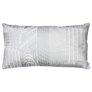 Rizzy Home Metallic Cityscape 11-inch x 21-inch Decorative Throw Pillow