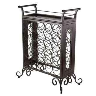 Winsome Silvano Dark Bronze 25-bottle Wine Storage Rack with Removable Tray