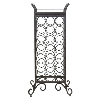 Winsome Silvano Dark Bronze 21-bottle Wine Storage Rack With Removable Tray