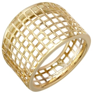 14k Yellow Gold Net Ring