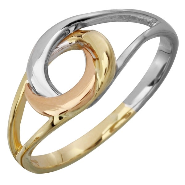 Ladies' 14k Tri-color Gold Size 8 Love Knot Ring