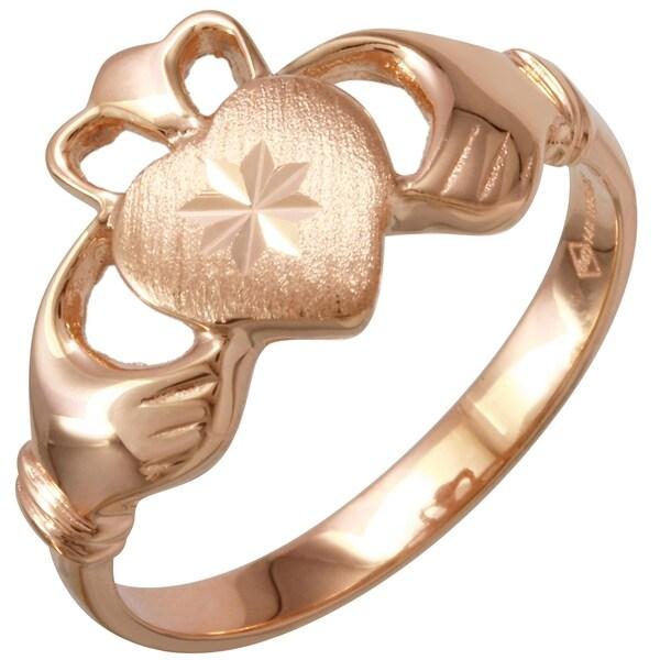 14-karat Rose Gold Claddagh Ring (Size 7)