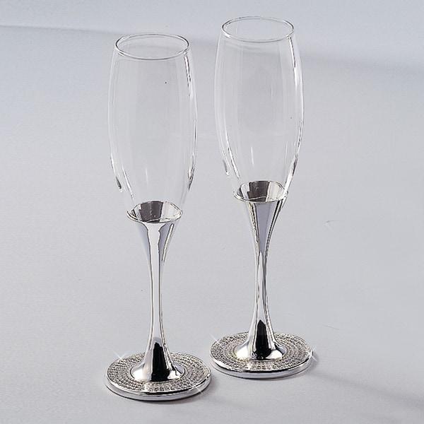 Elegance Sparkles Flute Goblets - 1 Pair