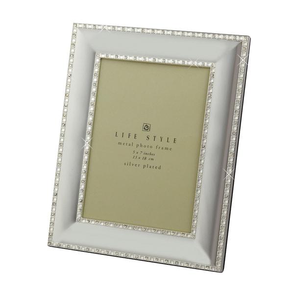 "Elegance Crystal Border 5x7"" Photo Frame"