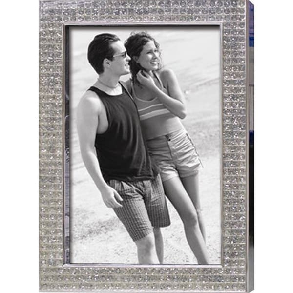"Elegance Chrome Pl. 5x7"" Photo Frame, Bling Border"