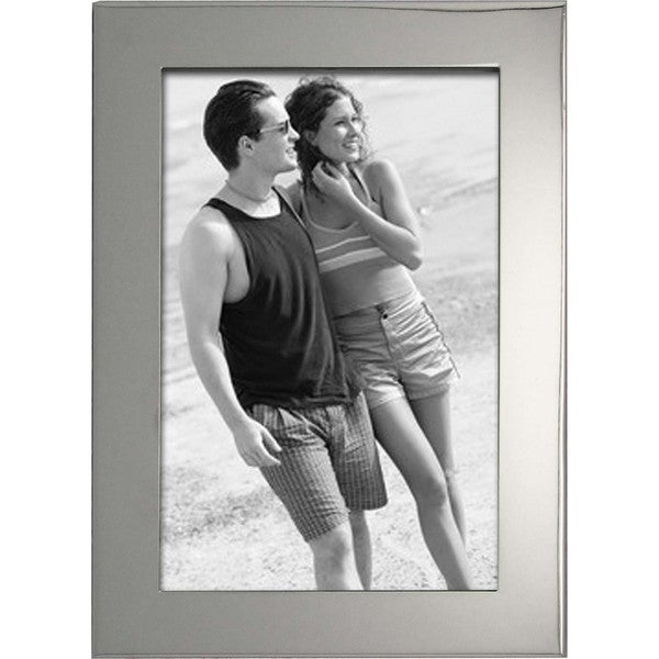 "Elegance Luxe Nickel Plated 4x6"" Photo Frame, PU Back"