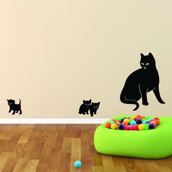 Cat Family Vinyl Wall Decal