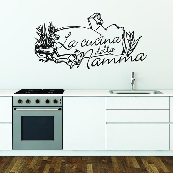 Cucina Della Mamma Vinyl Wall Art