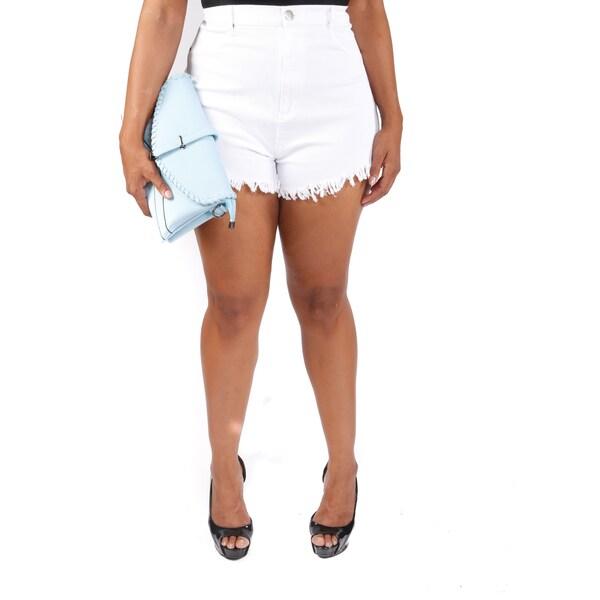 Hadari Women's Plus Size High Rise Shorts