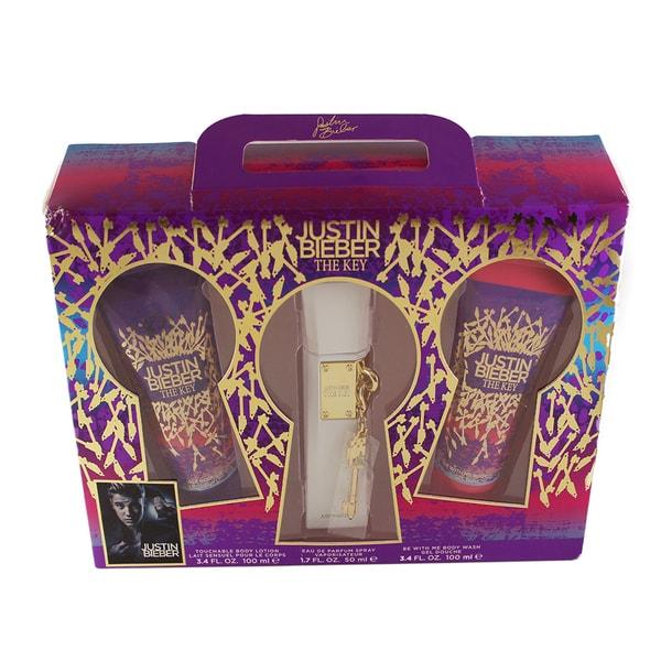 Justin Bieber The Key Women's 3-piece Gift Set