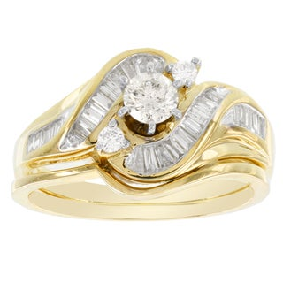 H Star 14k Yellow Gold 5/8ct TDW Diamond Bridal Set (I-J, I2-I3)