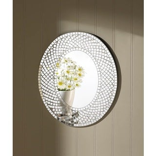 Valerie Silver/Glass Oval Wall Mirror