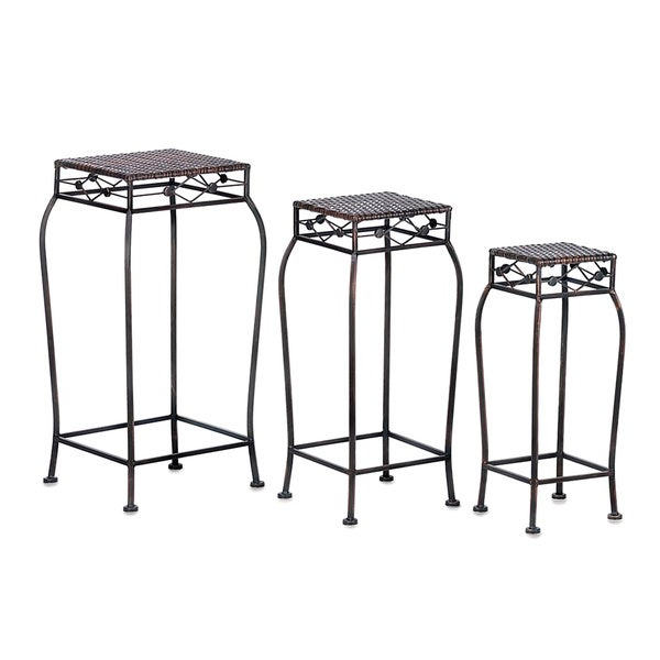 Dover Black Metal Multi-height Plant Stands (Pack of 3)