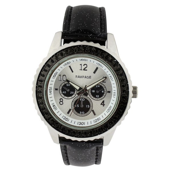Rampage Ladies RP1025BK Black Strap Watch