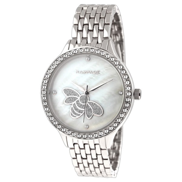 Rampage Ladies' RP1126SL Silver-plated Metal Bracelet Watch