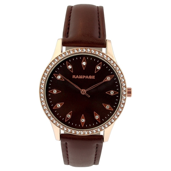 Rampage Ladies' RP1101RGBN Brown Strap Watch