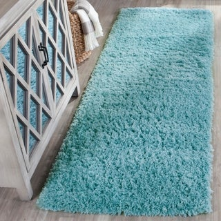 Safavieh Indie Shag Turquoise Polyester Rug (2' 3 x 7')