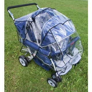 Angeles Clear Plastic Rain Cover for 4-passenger Stroller