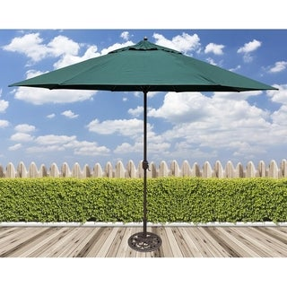Tropishade 11' Aluminum patio umbrella with Green Olefin Cover