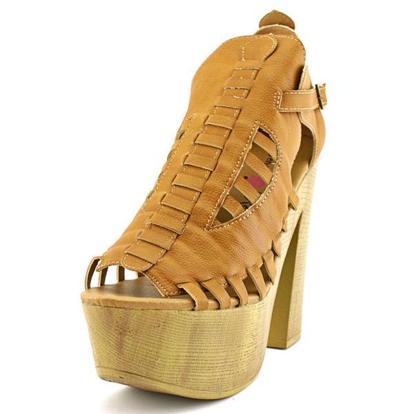 Penny Loves Kenny Women's Merlin Tan Faux Leather Sandals