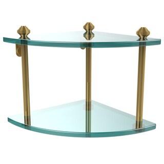 Allied Brass Southbeach Collection Clear Glass 2-tier Corner Shelf