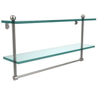Allied Brass Glass 22-inch Two-tiered Shelf With Integrated Towel Bar