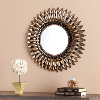 Upton Home Letterman Round Decorative Wall Mirror
