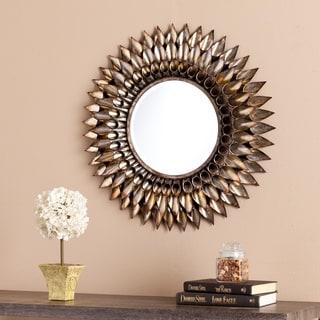 Harper Blvd Letterman Round Decorative Wall Mirror
