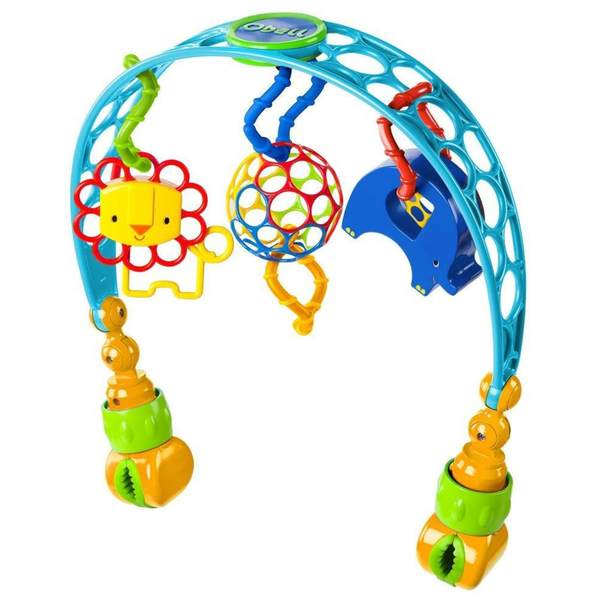 O Ball Flex 'N Go Multicolor Plastic Stroller Activity Arch 19121000