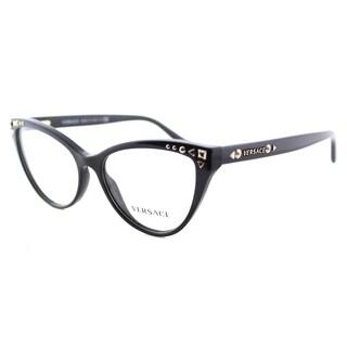 Versace Women's VE 3191 GB1 Black Plastic 54-millimeter Cat-eye Eyeglasses