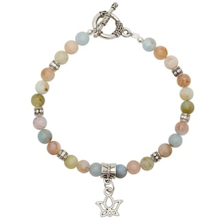 Healing Stones for You Beryl Bracelet with Lotus Charm