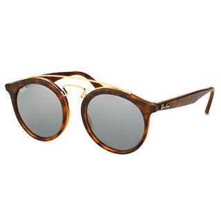 Ray-Ban Women's RB 4256 60926G Gatsby I Matte Havana Plastic Fashion Sunglasses With Silver Mirror Lenses