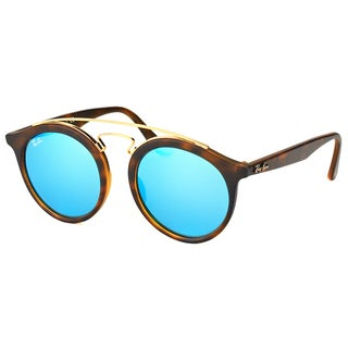 Ray-Ban RB 4256 609255 Gatsby I Matte Havana Plastic Fashion Sunglasses with Blue Mirror Lens