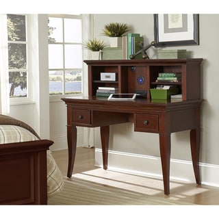 Walnut Street Chestnut Desk With Hutch and Chair