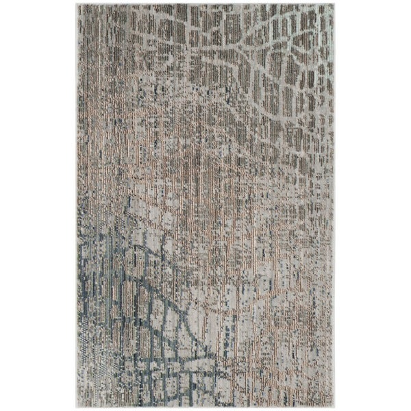 Safavieh Valencia Abstract Watercolor Grey/ Multi Rug