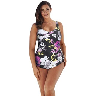 Beach Belle Camellia Sarong Front Swimsuit