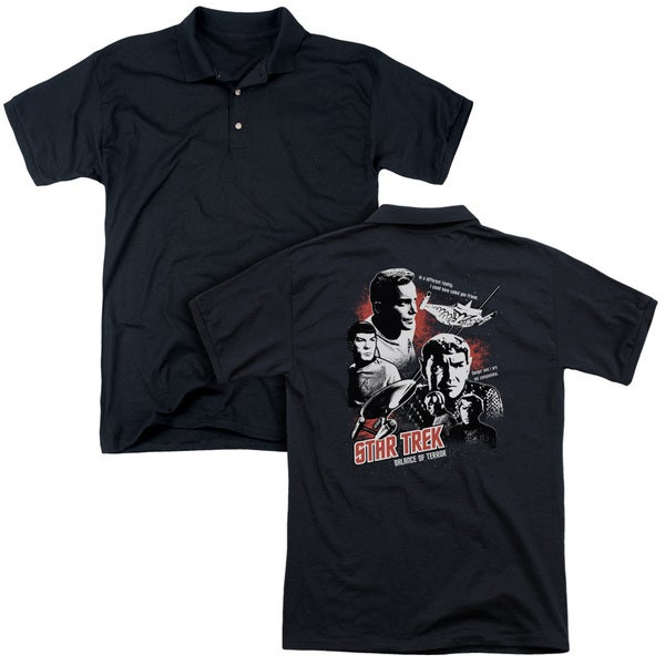 Star Trek/Balance Of Terror (Back Print) Mens Regular Fit Polo in Black