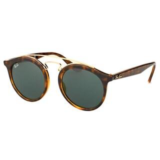 Ray-Ban Women's RB 4256 710/71 Gatsby I Havana Plastic Fashion Sunglasses with Green Lens